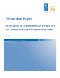 Коренные причины радикализации в Европе и Содружестве Независимых Государств (UNDP, 2015)