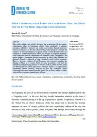 Когда контртерроризм входит в учебную программу: как глобальная война с терроризмом угрожает хорошему образованию (Martin M. Sjøen, Journal for Deradicalization, #20, 2019)