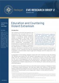 Education and Countering Violent Extremism (Sara Zeiger, Hedayah CVE Research Brief 2, 2014)