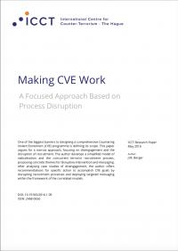 Обеспечение эффективности ПНЭ: целенаправленный подход, основанный на подрыве процесса (J.M. Berger, ICCT, 2016)