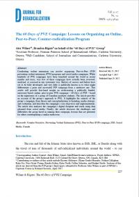 60-дневная кампания по ПНЭ: уроки организации онлайн кампании по противодействию радикализации (Alex Wilnera, Brandon Rigato, Journal for Deradicalization, #12, 2017)