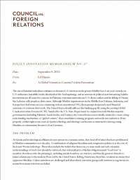 Глобальное начинание по противодействию насильственному экстремизму (Ed Husain, Council on Foreign Relations, 2013)