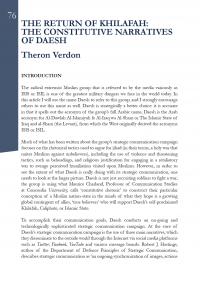 Возвращение хилвы: основополагающие нарративы ДАИШ (Theron Verdon, NATO StratCom COE, 2015)