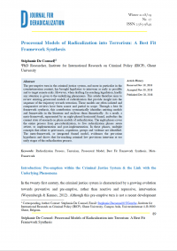 Процессуальные модели радикализации к терроризму: наилучшая синтетическая модель (Stéphanie De Coensel, Journal for Deradicalization, #17, 2018)