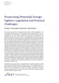 Судебное преследование (потенциальных) иностранных боевиков: законодательные и практические вызовы (Christophe Paulussen, Kate Pitcher, ICCT, 2018)