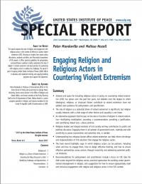 Привлечение религии и религиозных акторов к противодействию насильственному экстремизму (Peter Mandaville, Melissa Nozell, US Institute of Peace, 2017)