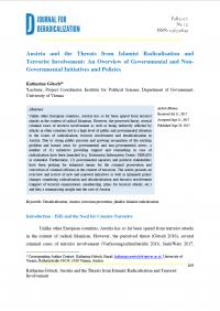 Австрия и угрозы от исламистской радикализации и вовлечения в терроризм: обзор правительственных и неправительственных инициатив и политик (Katharina Götsch, Journal for Deradicalization, #12, 2017)