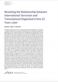 Пересмотр отношений между международным терроризмом и транснациональной организованной преступностью 22 года спустя (Alex P. Schmid, The International Centre for Counter-Terrorism, 2018)