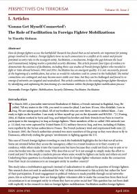 «Собираюсь присоединиться»: роль фасилитации в мобилизации иностранных боевиков (Timothy Holman, Perspectives on Terrorism Journal, #2, 2016)