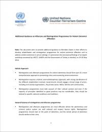 Дополнительное руководство по программам последующего наблюдения и реинтеграции для преступников из числа насильственных экстремистов (UN CTC, 2014)