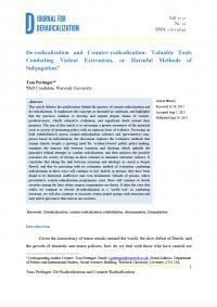 Дерадикализация и контррадикализация: ценные инструменты борьбы с насильственным экстремизмом или вредные методы угнетения? (Tom Pettinger, Journal for Deradicalization, #12, 2017)