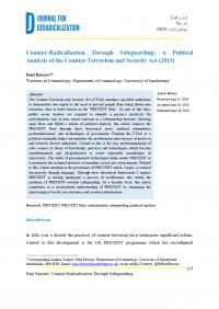 Противодействие радикализации посредством обеспечения безопасности: политический анализ Закона о борьбе с терроризмом и безопасности (2015 г.) (Paul Dresser, Journal for Deradicalization, 2018)