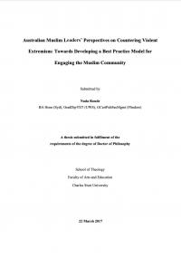 Взгляды австралийских мусульманских лидеров на противодействие насильственному экстремизму: на пути к разработке модели передового опыта взаимодействия с мусульманским сообществом (Nada Roude, Charles Sturt University, 2017)