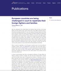 Европейские страны привлекают к суду по репатриации иностранных боевиков и их семей (Tanya Mehra LL.M, ICCT, 2019)