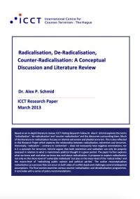 Радикализация, дерадикализация, противодействие радикализации: концептуальная дискуссия и обзор литературы (Alex P. Schmid, ICCT, 2013)