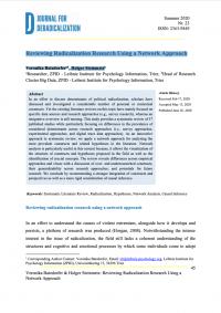 Обзор исследований радикализации с использованием сетевого подхода (Veronika Batzdorfer, Holger Steinmetz, Journal for Deradicalization, #23, 2020)