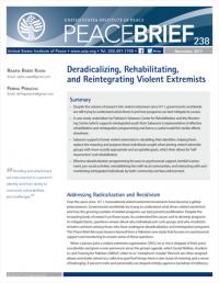 Дерадикализация, реабилитация и реинтеграция насильственных экстремистов (Raafia Raees Khan, Feriha Peracha, USIP, 2017)